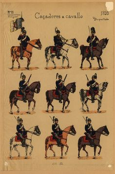 Portuguese Horsemen _ 1893 Portuguese Empire, Portuguese Culture, Armadura Medieval, Poster Pictures, Roman Empire, Military History, Horse Riding, Past, Old Things