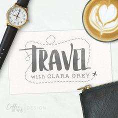 Travel Blog Logo  Premade Logo Design for von CoffeeandInkDesign