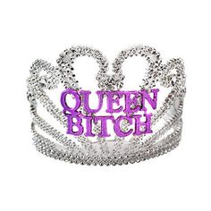 QUEEN BITCH TIARA ($8) ❤ liked on Polyvore featuring accessories, hair accessories, fillers, jewelry and headwear