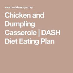 Chicken and Dumpling Casserole | DASH Diet Eating Plan