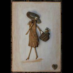 Uszadékfa kisasszony ❤ #akőlelke #papptimi #kavicsképek #pt #pebbleart #driftwoodart