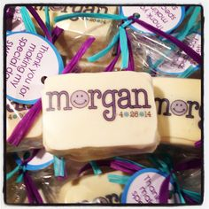Logo chocolate covered Rice Krispie favor for bat mitzvah Bat Mitzvah, Chocolate Covered, Rice Krispies, Favors, Logo, Holiday, Chocolate Frosting, Presents, Logos