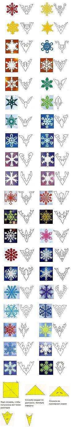 Cutting Patterns for Paper Snowflakes