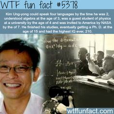 WOW! ...The man with the highest IQ in the world - WTF fun facts
