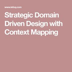 Strategic Domain Driven Design with Context Mapping