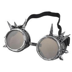 niceEshop(TM) Vintage Lunettes Goggles Steampunk pour Cosplay et Photographie (Bronze Argent): Amazon.fr: Sports et Loisirs