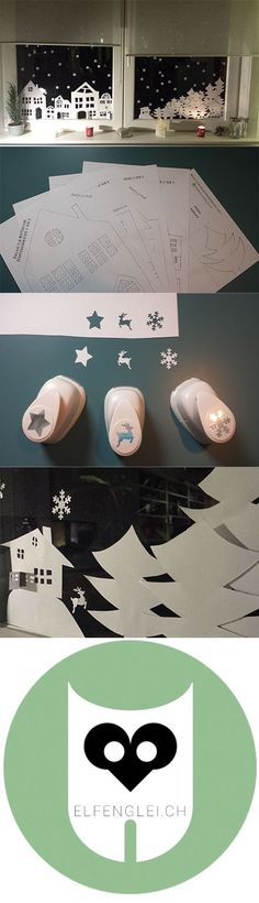 Wintry window decoration – templates for printing Attention! You can … - Xmas Noel Christmas, Christmas Paper, All Things Christmas, Winter Christmas, Handmade Christmas, Spring Crafts, Holiday Crafts, My Planner Colibri, Diy And Crafts