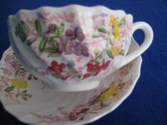 Copeland Spode 'Fairy Dell' Cup Saucer and Bread and Butter Plate