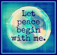 VENITISM: Let peace begin with you