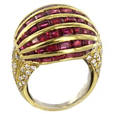 1stdibs - Ruby and Diamond '' Balloon'' Ring by ARFAN Paris explore items from 1,700  global dealers at 1stdibs.com