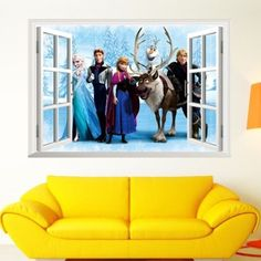 Disney Frozen room decor for kids bedroom walls - mural art decal with the most realistic feel.