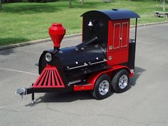Iron Horse BBQ Train: A Grill Smoker & Trailer: Attention Barbecue Pros: Bbq Smoker Trailer, Bbq Pit Smoker, Barbecue Pit, Custom Bbq Grills, Custom Bbq Smokers, Bbq Equipment, Offset Smoker, Wood Craft Patterns, Outdoor Oven