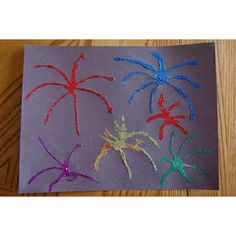 Fourth Of July Fireworks Craft From I Heart Crafty Things  #4thofJuly #Crafts For The #Kids