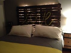 """headboards made from wooden pallets 
