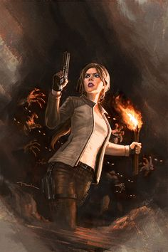 Andy Park Art - TOMB RAIDER | Adventurer Woman in a Cave | Sci-Fi Smuggler
