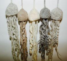 Crochet JellyFish – BedStraw Crocheted Jellyfish, Bouldering, Merino Wool, Weaving, Artist, Handmade, Inspiration, Color, Design