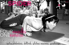 Spider exercise - arms abs and cardio! I do similar moves and they work!!