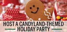 The Candyland holiday party theme is fun, flavorful and very spirited. Find everything you need for a candyland themed holiday party here! Christmas Party Themes, Holiday Parties, Christmas Ideas, Event Themes, Employee Appreciation, Candyland, Corporate Events, Gingerbread Cookies, Birthdays