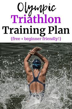 Need some fitness inspiration? Want to take on a big fitness challenge? Try triathlon training! Did you know in just a few months you could be ready to complete an Olympic distance triathon? Find a free triathlon training plan here. Olympic Triathlon Training Plan, Sprint Triathlon Training Plan, Triathlon Women, Triathlon Gear, Race Training, Training Programs, Half Ironman Training Plan, Ironman Triathlon Motivation, Marathon Training