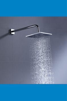 100% Metal 8 Inch Rain Shower Head Square 2.5 GPM Rainfall Spray