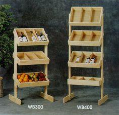3-Bin Wooden Display