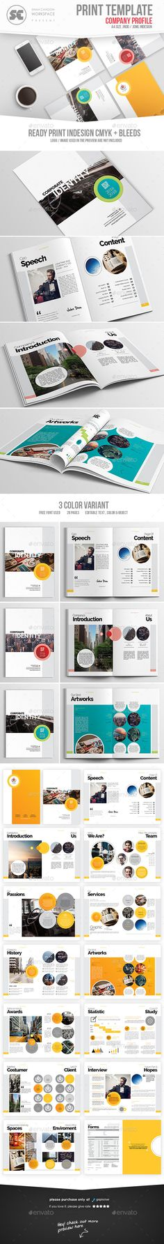 Company Profile Template InDesign INDD Company Profile Design - company profile templates