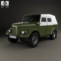 GAZ 69A 1953 3d model from humster3d.com. Price: $75