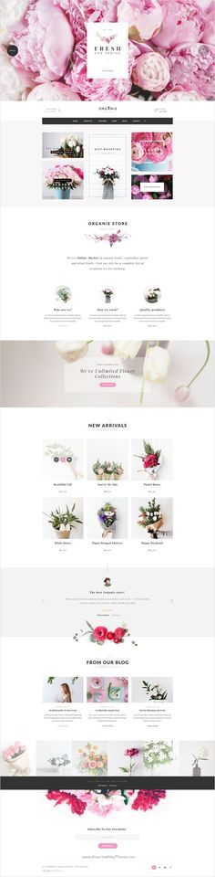 Organie is a delightful 7 in 1 #PSD template for multipurpose #flower shop eCommerce website Download now➩ themeforest.net/...                                                                                                                                                                                 More