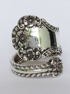 Vintage Gorham Sterling Silver Spoon Ring by NotSoFlatware on Etsy