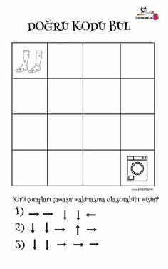 Kodlama Mental Maths Worksheets, Preschool Worksheets, Computer Coding For Kids, Act Math, Computational Thinking, Handwriting Practice, Math For Kids, Teaching, Geography