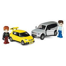Tomica Hypercity Dual Die-Cast Car Set - Mitsubishi Pajero and Suzuki Swift Sport