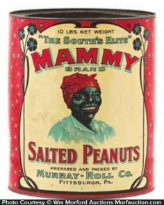 Stereotypes of African Americans grew as a natural consequence of both scientific racism and legal challenges to both their personhood and citizenship. Vintage Bottles, Vintage Tins, Vintage Labels, Vintage Pantry, Vintage Food, Vintage Stuff, Tin Containers, Antique Signs, Vintage Kitchenware