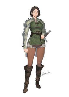 Fantasy Concept Art, Fantasy Rpg, Fantasy Girl, Character Concept, Character Art, Character Design, Fantasy Characters, Female Characters, Fictional Characters