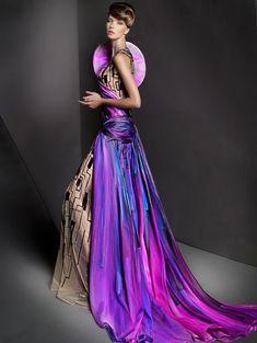 Futuristic Look / Blanka Matragi Haute Couture 2012, future fashion, futuristic style, colorful, hologram