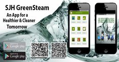 Keep up with SJH GreenSteam download our app today!  Get behind the powerful burst of REAL Vapor steam.  Vapor steam cleaning for a healthier and cleaner tomorrow.