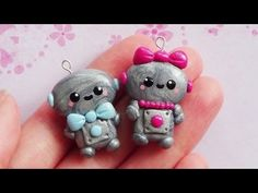 ♡ Valentines Day Robot Charms! - Polymer Clay Tutorial♡ - YouTube