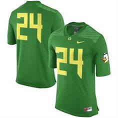 24 Oregon Ducks Nike Replica Football Jersey - Green Football Uniforms bfae4cbda3763