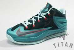 Nike LeBron 11 Low   Turbo Green   Nightshade   Glacier Ice   Laser Crimson