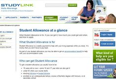 Find out about the student allowance via the Studylink website