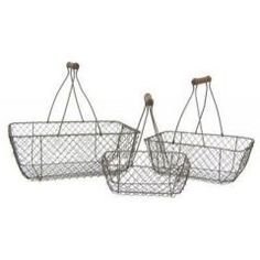 Like this chicken wire basket as an Easter basket.  -tkz