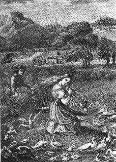 Ludwig Grimm's Goose Girl illustration