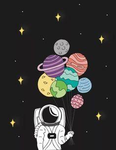 Astronauta con planetas ideas on canvas trippy space Easy Canvas Art, Simple Canvas Paintings, Small Canvas Art, Cute Paintings, Mini Canvas Art, Diy Canvas, Space Drawings, Cool Art Drawings, Art Drawings Sketches