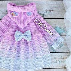 Crochet Coat, Crochet Jacket, Baby Girl Crochet, Crochet For Kids, Girls Sweaters, Baby Sweaters, Cute Toddler Girl Clothes, Baby Boy Cardigan, Baby Girl Tops