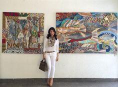Heart evangelista aka love Marie with her paintings