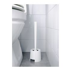 Bathroom: BOLMEN Toilet brush/holder - white $.99