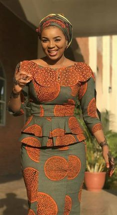 peplum ankara skirt and blouse: check out 25 + creatve and stunnng peplum ankara skirt and blouse styles to Rock to church Long African Dresses, African Fashion Designers, Latest African Fashion Dresses, African Print Dresses, African Women Fashion, African Dress Styles, Woman Fashion, Ankara Rock, Pijamas Women