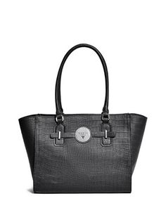 33dd7137cf Delrose Croc-Embossed Carryall at Luxe croc-embossed texture and high-shine  hardware team up to create the ultimate everyday bag.