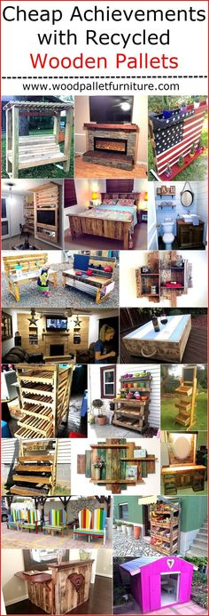 The products made up of recycled wooden pallets are not amazing just because of their unique look, but due to the fact that they are created by spending a less amount of money as the wood pallets are cheap. Those who are creative and have the skills can inspire others by getting the reclaimed wood pallets and arranging the tools that are required for attaching the pallets with each other after cutting them according to the size needed to build any product.