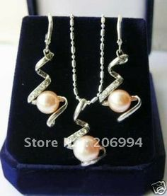 schmuck rosa perlenkette ohrring frei versand