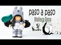 YouTube Totoro, Doll Clothes Patterns, Doll Patterns, Diy Russian Dolls, Patron Crochet, Polymer Clay Dolls, Sewing Dolls, Doll Maker, Soft Dolls